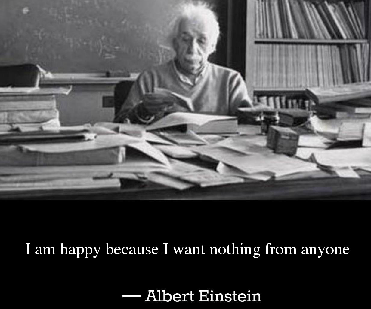 Albert Einstein Picture Quote - Happiness