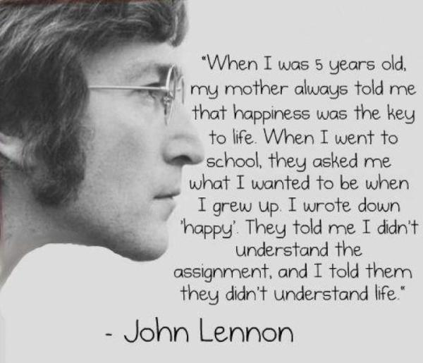 John Lennon Picture Quote - Happiness