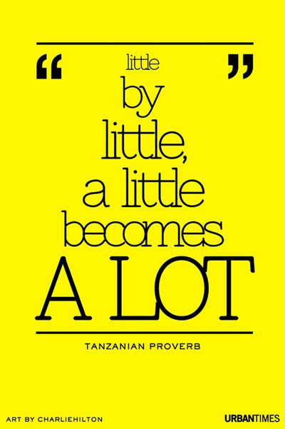 Tanzanian Proverb Quote   Little by little