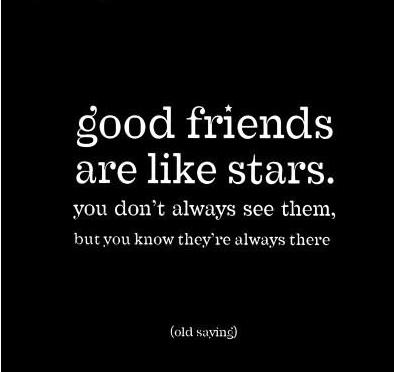 Quotes for a good friend - like a star
