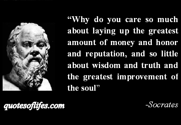 Socrates - Wisdom over Money