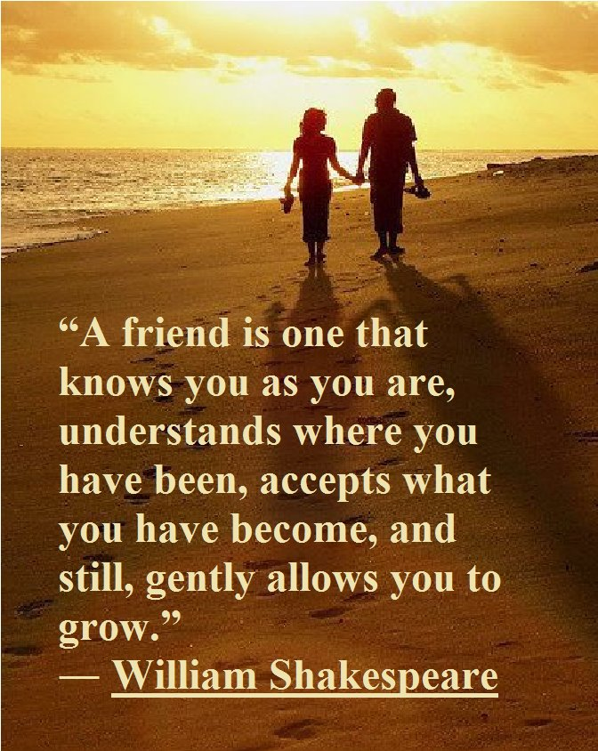 Shakespeare picture quote about friendship