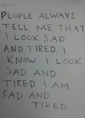 Depression Quote - I Am Sad