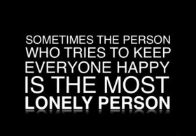 Depression Quote - The person who tried to keep others happy