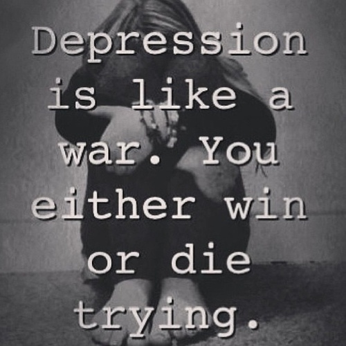 Quotes About Depression Mesmerizing Depression Quotes  Like A War  Quotes About Life